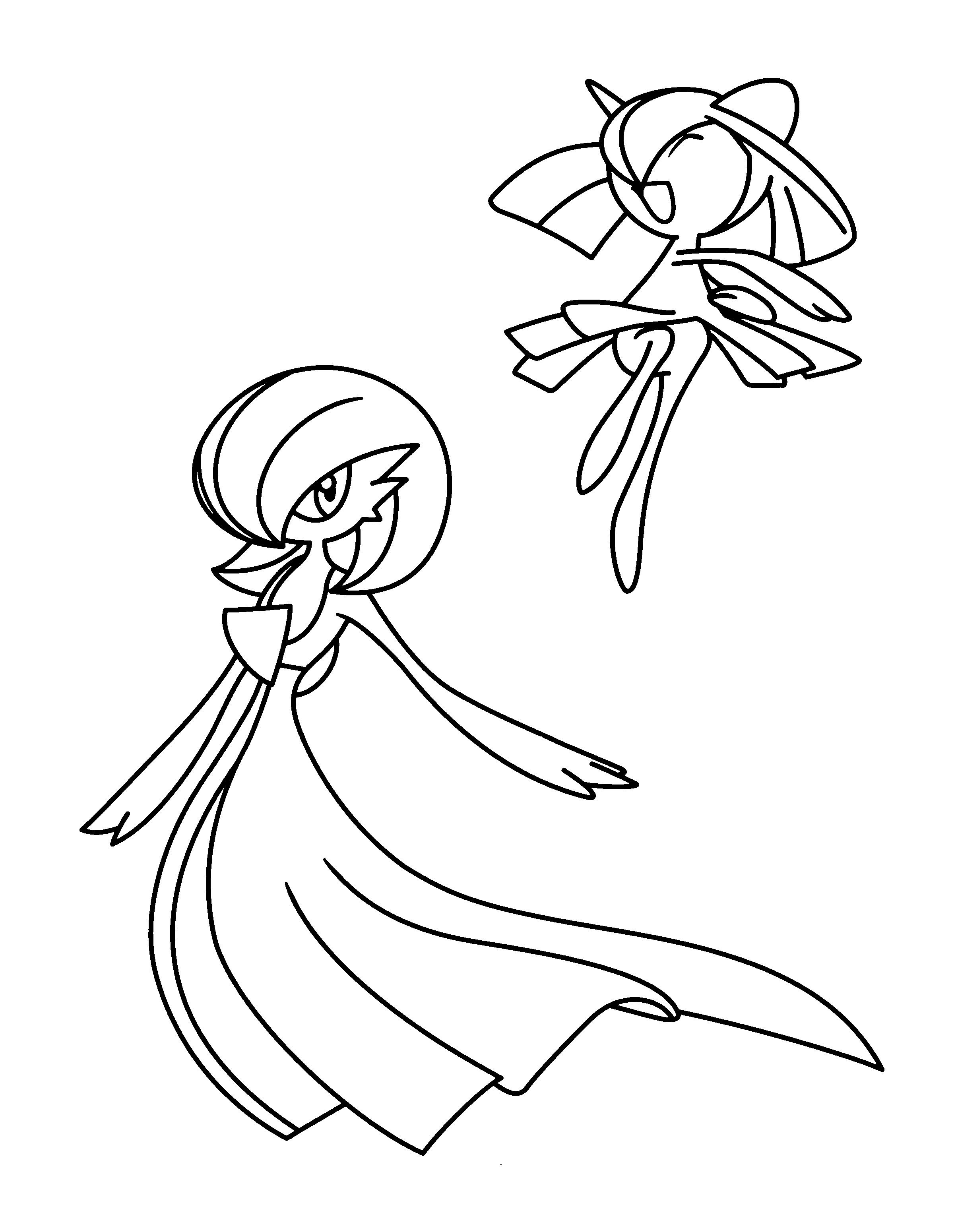 Pokemon Coloring Pages Gardevoir