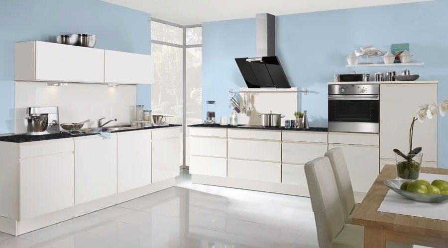 Fronten in Hochglanz-Lack magnolienweiß wwwfoerde-kuechende - küchenzeile weiß hochglanz