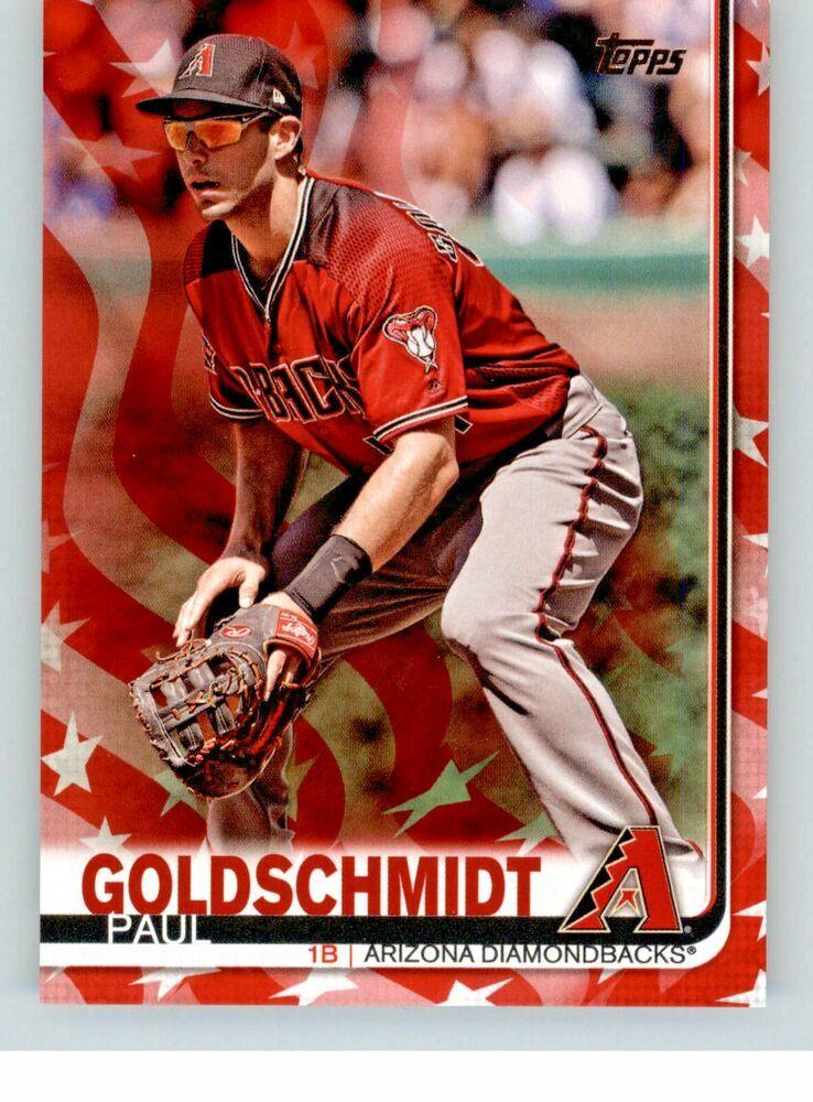 2019 Topps Series 1 Independence Day Parallel 297 Paul Goldschmidt 36 76 Arizonadiamondbacks Arizona Diamondbacks Paul Goldschmidt Independence Day