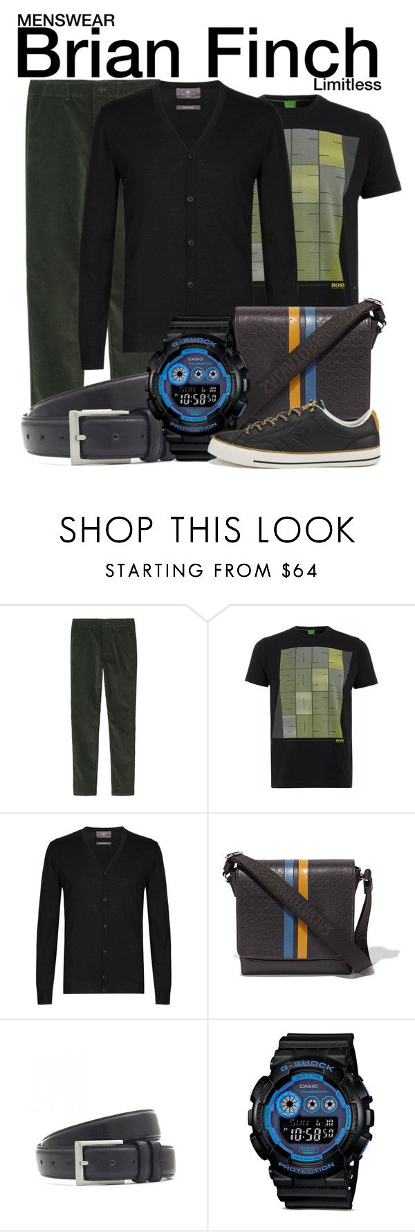 """""""Limitless"""" by wearwhatyouwatch ❤ liked on Polyvore featuring mode, Toast, BOSS Green, M&S Collection, Salvatore Ferragamo, Barbour, G-Shock, Converse, television en wearwhatyouwatch"""