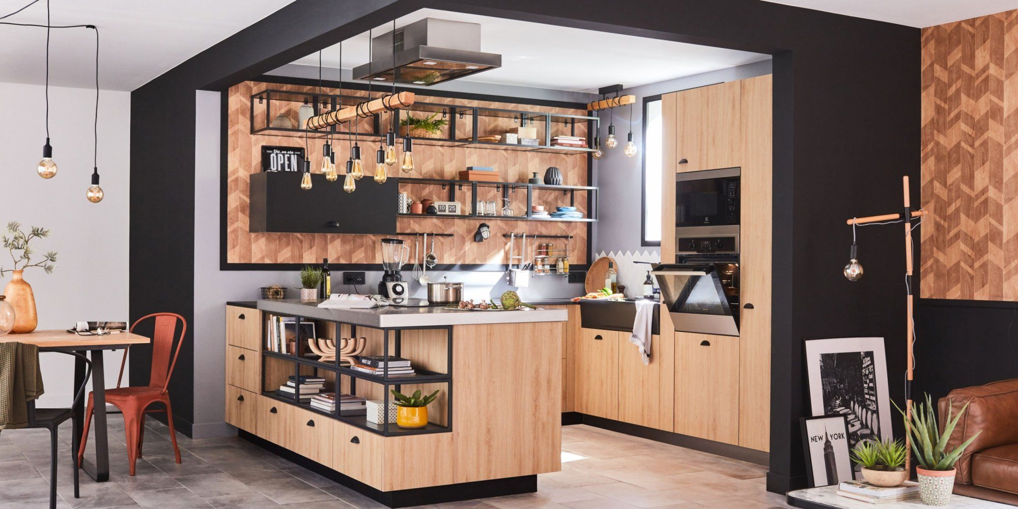 pleins feux sur les nouvelles cuisines leroy merlin. Black Bedroom Furniture Sets. Home Design Ideas