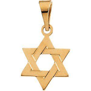 Genuine IceCarats Designer Jewelry Gift 14K Yellow Gold Star Of David Pendant. 12.00X09.00 Mm Star Of David Pendant In 14K Yellow Gold