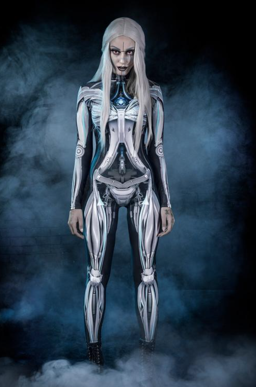 GLOW IN THE DARK! 3 Pc AWESOME SKELETON COSTUME ADULT WOMAN