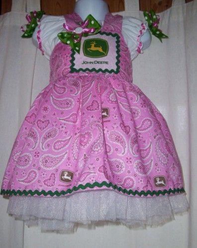 John Deere Jumper Dress Sizes 2T-8 Girls 2 Piece