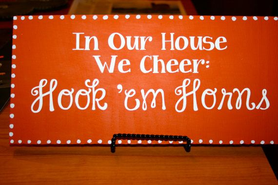 In Our House We Cheer Texas Longhorns Sign by TheSassyTexan
