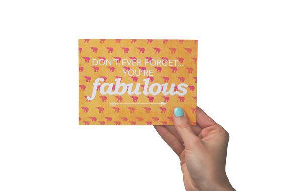 You're Fabulous Postcards