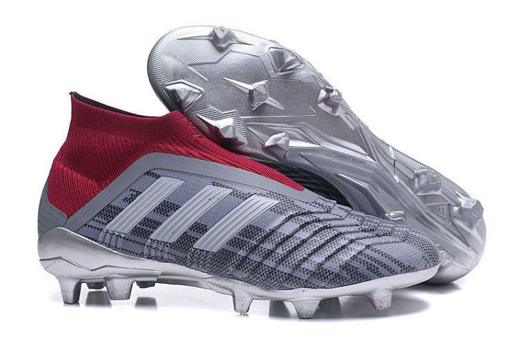 official photos 68c0f 4f4f1 Unisex Adidas x Paul Pogba Predator 18+ FG 2018 World Cup Football Shoes  Grey Burgundy