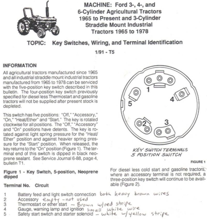 bilderesultat for ford 4000 ignition switch wiring  tractor