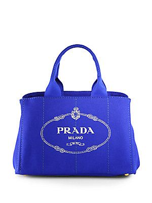 2e57d24a4e2e Prada Logo Printed Medium Canvas Tote <3 | Pursing in 2019 | Canvas ...