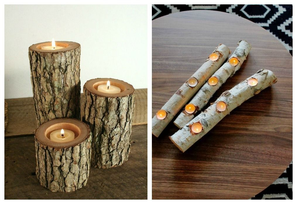 04 decoracion tronco velas slow deco pinterest ideas - Decoracion de velas ...