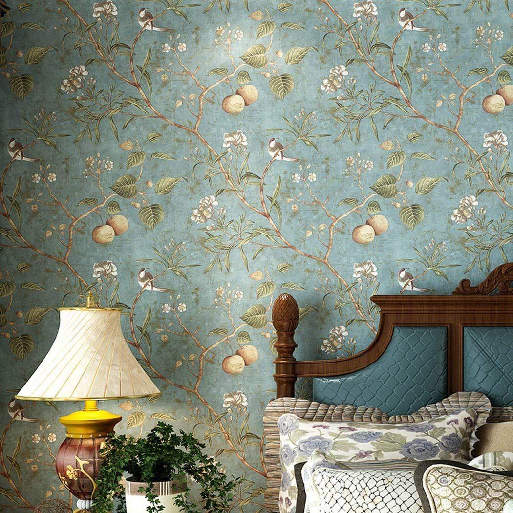 Glow4u Peel And Stick American Vintage Wallpaper Living Room
