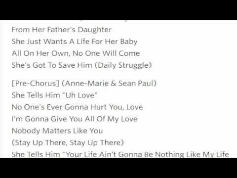 Clean Bandit - Rockabye ft  Sean Paul Lyrics Video