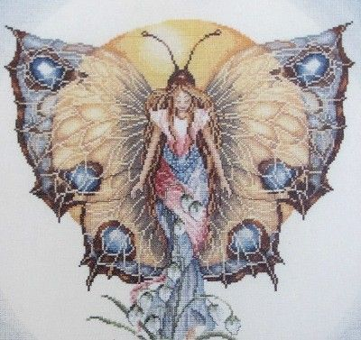 Butterfly Cross Stitch Chart Fairy Cross Stitch Pattern PDF