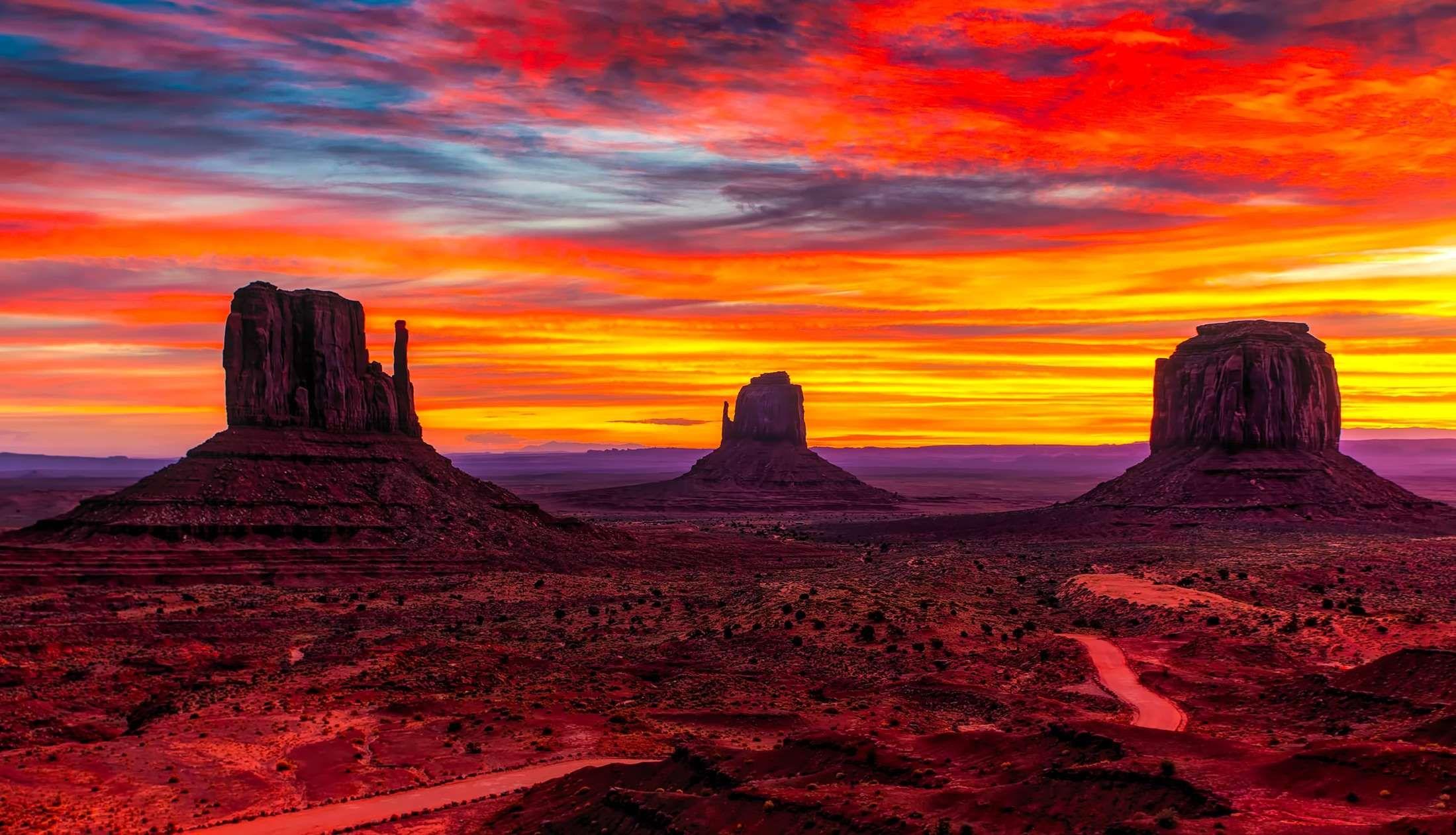 Arizona Clouds Dawn Desert Dusk Geology Landscape Monument