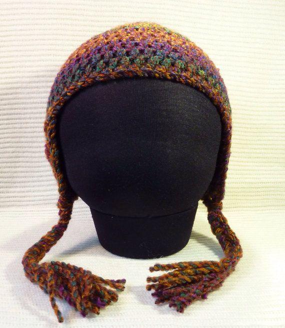 Ear flap hat child 5-10 years crochet | Pinterest
