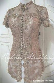 50 Gambar Model Baju Kebaya Modern Lengan Pendek Sabrina