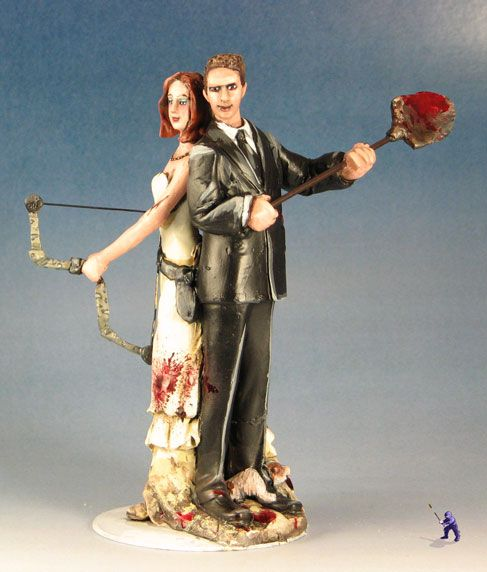 Zombie Cake Topper Zombie Cake Halloween Themed Wedding Wedding Cake Topper Signs