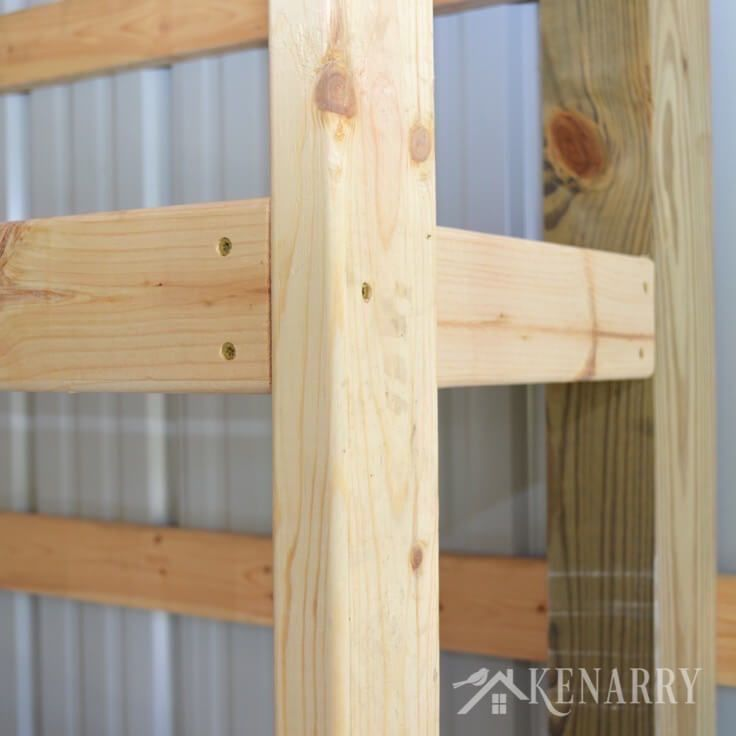 Strong Homemade Wood Storage Basement Shelves Diy Project: DIY Corner Shelves For Garage Or Pole Barn Storage