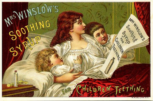 1886 WINSLOW MORPHINE SYRUP  FOR  CHILDREN