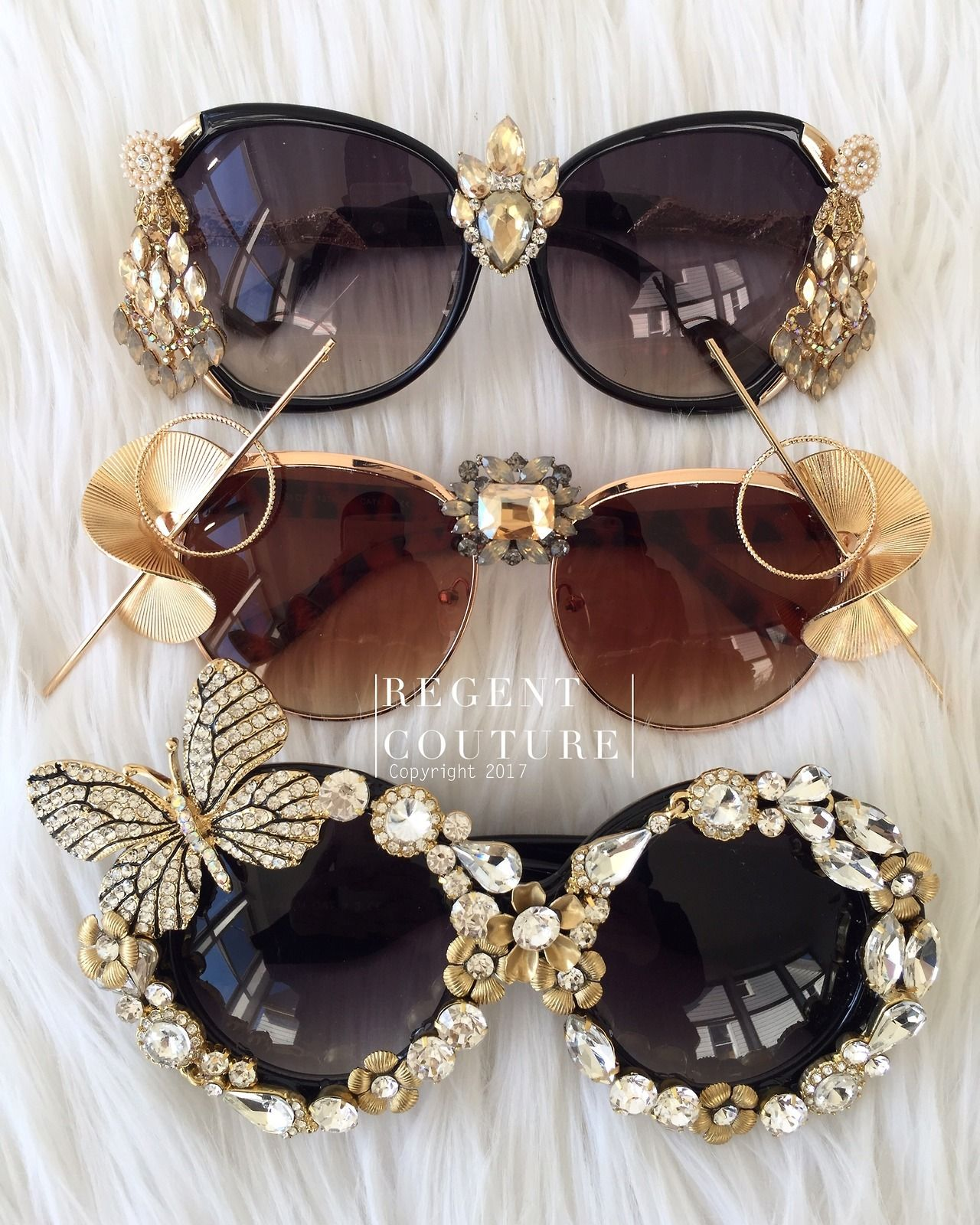 Iridescent Rhinestone Archangel Goggles Ready to ship Carrying case included