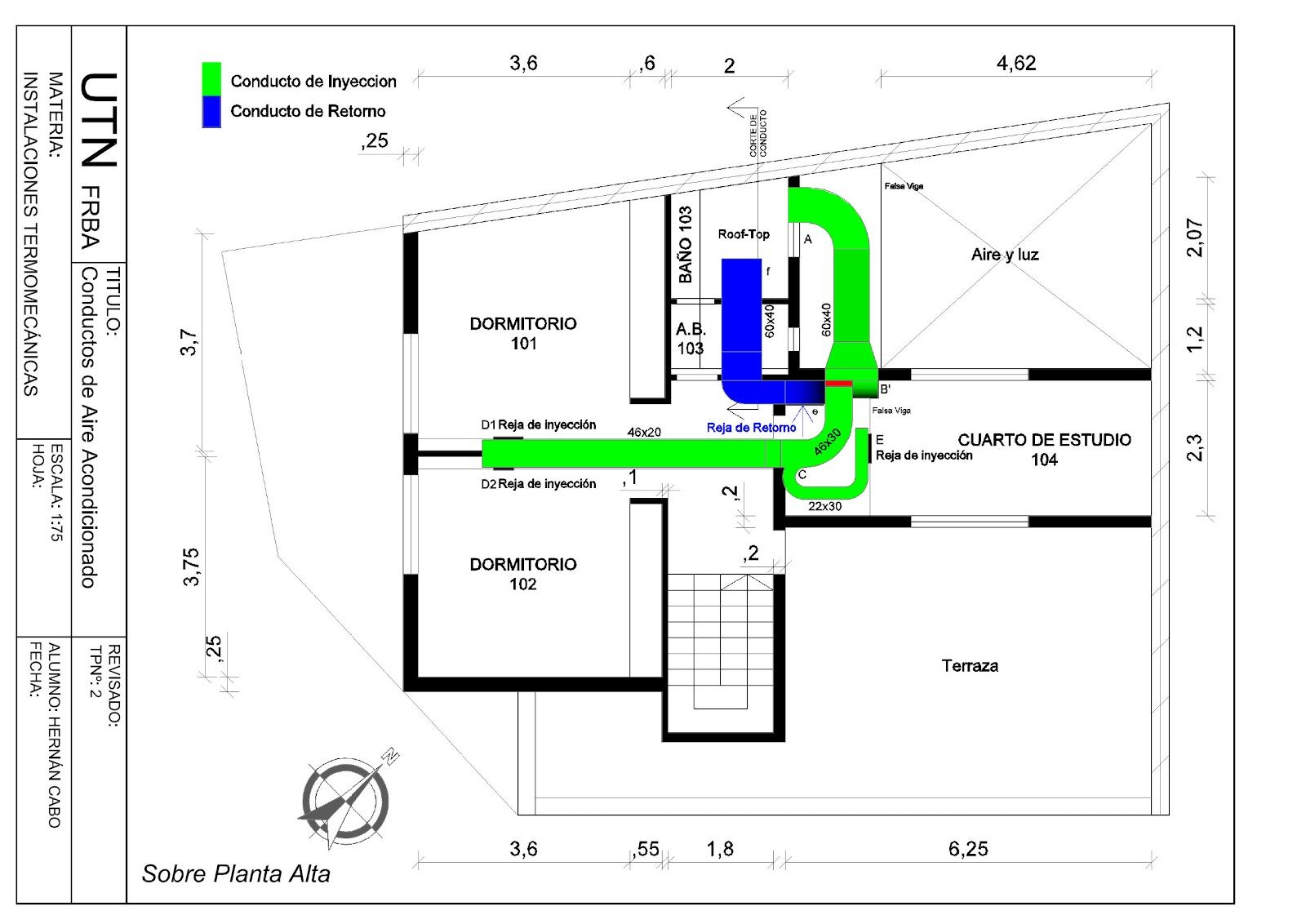 plano de climatizaci u00f3n  primera planta