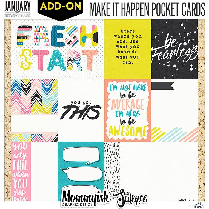 Story Planner 2016 January Kit By Just Jaimee + Mommyish