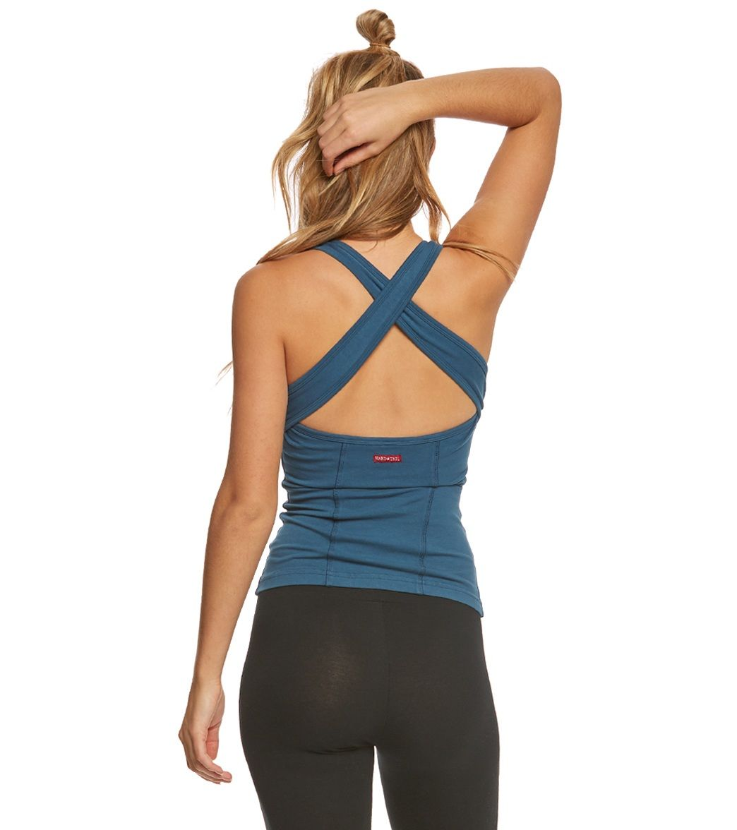 Hard Tail Open Back Support Tank Top Wide leg yoga pants