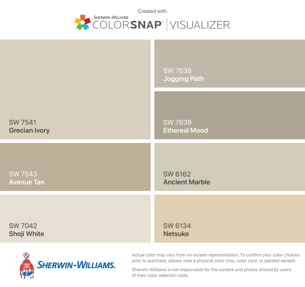 I Found These Colors With Colorsnap Visualizer For Iphone By Sherwin Williams Grecian Ivory