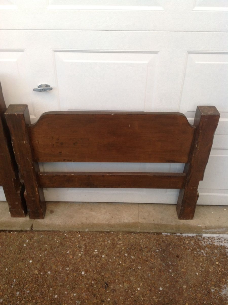 Vintage twin bed headboard and footboard. Very heavy and
