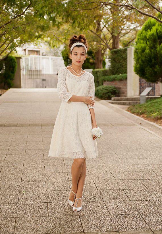 Vestido de boda casual perfecto para una boda de jard n este vestido fue hecho con el cord n de - Boda informal ...