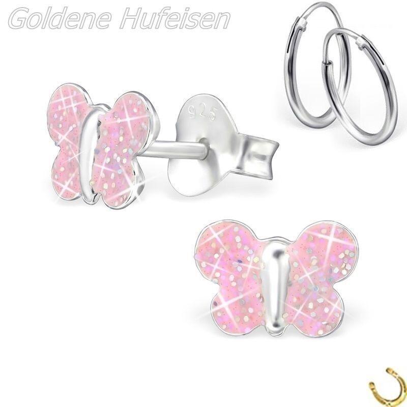 ZEEme for Kids Kinder Ohrring Ohrstecker 925 Sterling Silber rhodiniert Hufeisen