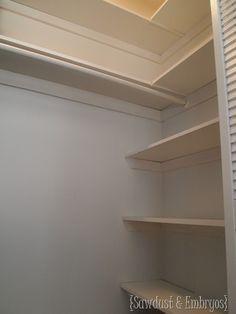 Beau Custom Closet Shelving ~ A Tutorial