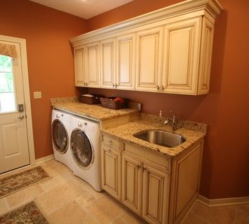 Granite Runs Over Washer And Dryer Design Ideas, Pictures, Remodel and Decor