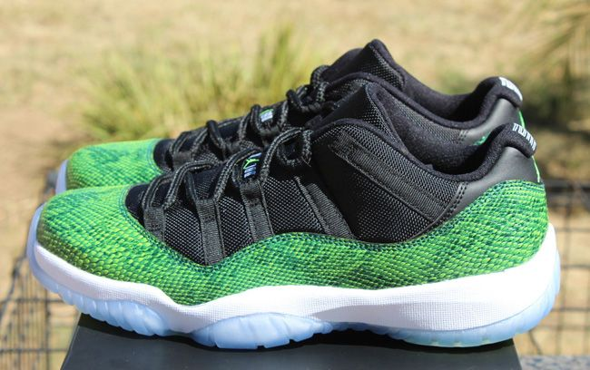 sports shoes d680a 646eb Air Jordan 11 Retro Low  Green Snake  (Release Date)