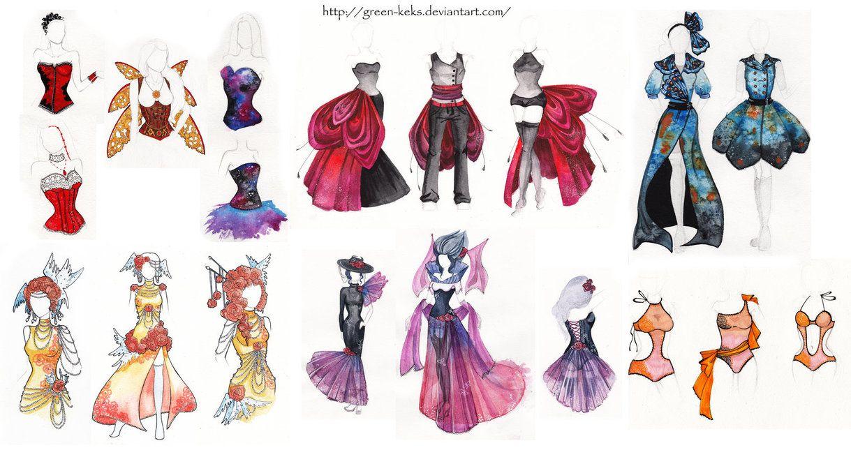 Fashion Design by GreenKeks on deviantART  art  Pinterest