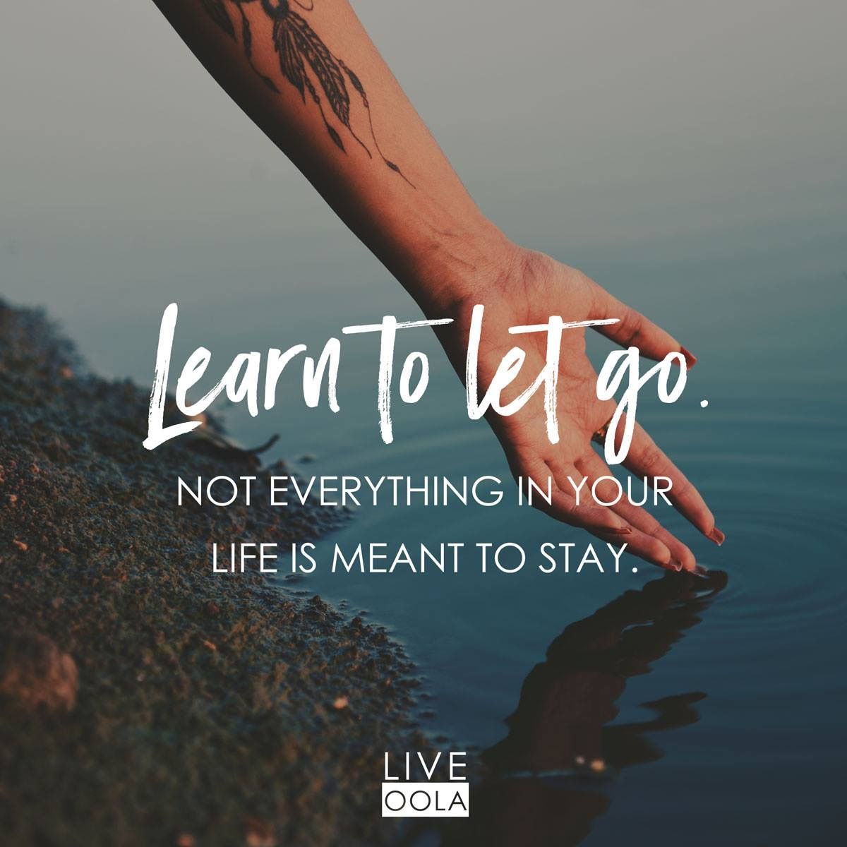 most important lesson is learning how to let go