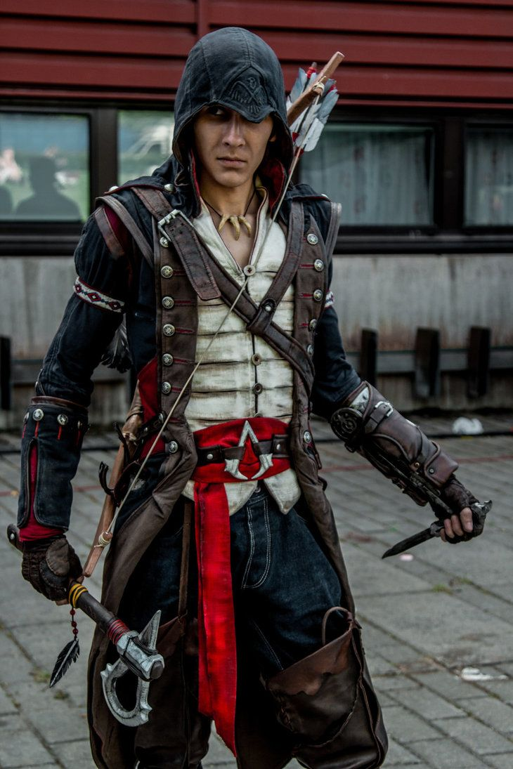 Connor Kenway Cosplay Battle Stance By Pearlite Assassins Creed