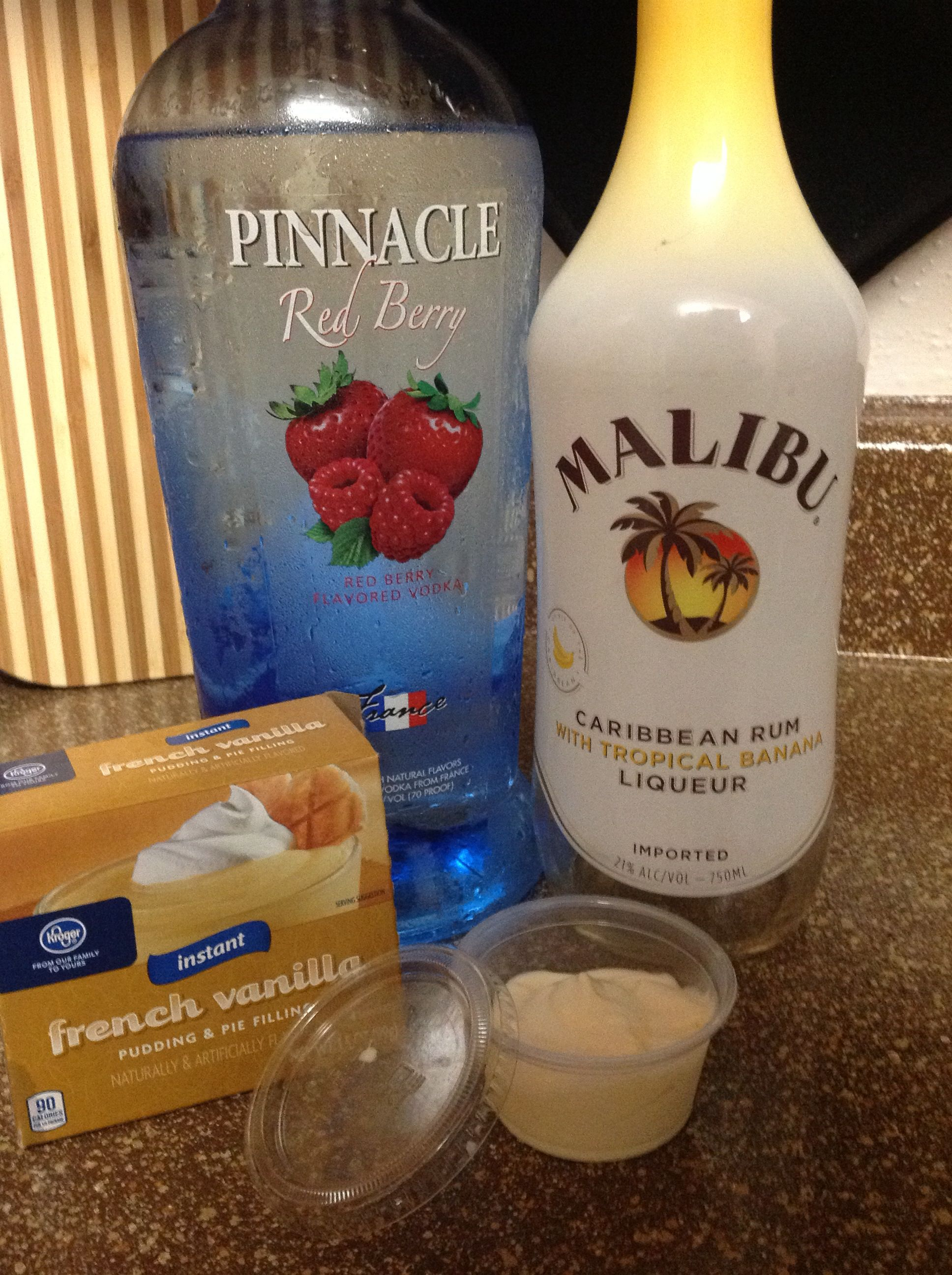 Berry Vanilla Banana Pudding Shot 1 box French Vanilla pudding 3