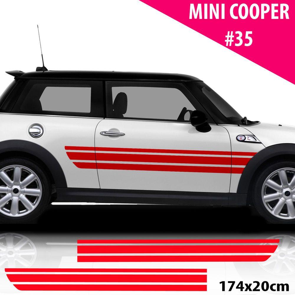 Car Side Stripes For Mini Cooper Car Decals Car Stickers Racing Stripes Sport Racing Stripes Car Wrap Design Mini Cars [ 1000 x 1000 Pixel ]