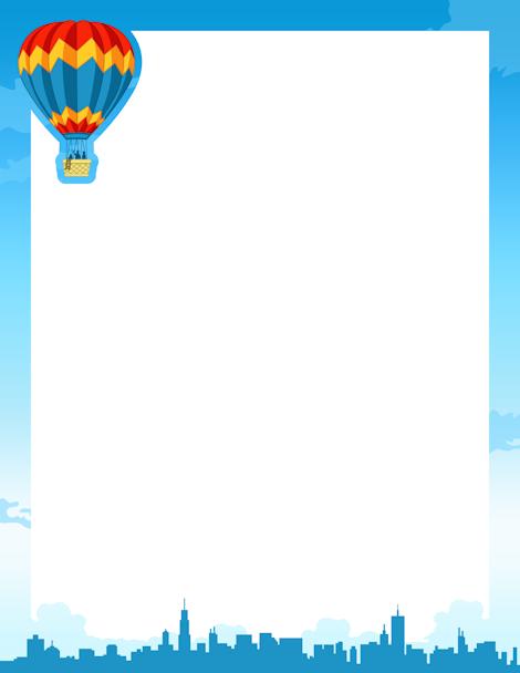 Hot Air Balloon Border: Clip Art, Page Border, and Vector Graphics