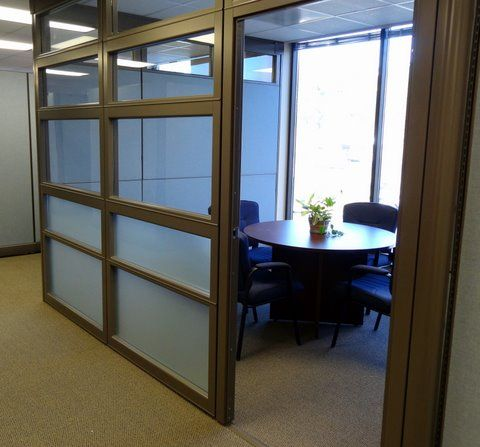 Glass wall standalone cubicle panel room by connecting elements