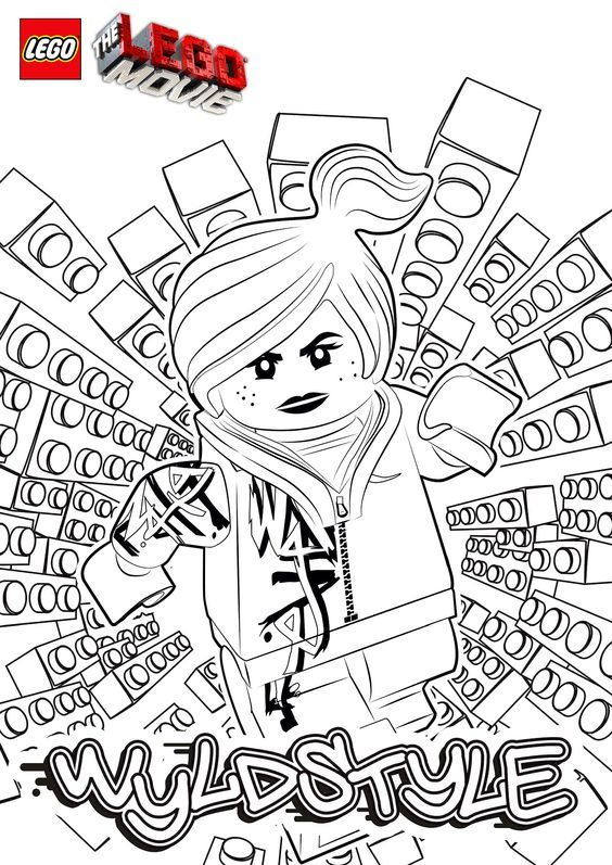 The LEGO Movie Coloring Pages - lego-minifigures