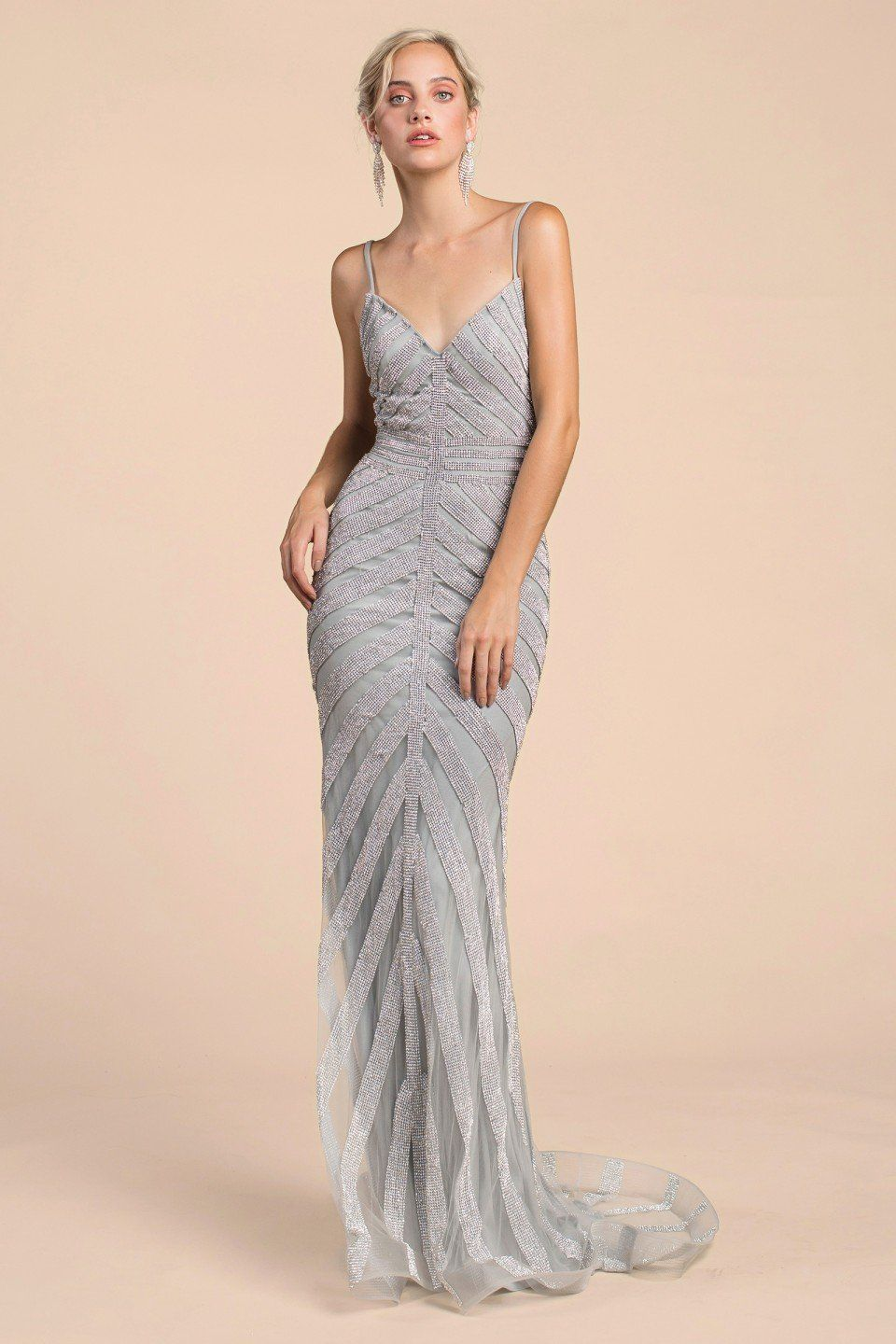 aec29d4c1f A0253 in 2019 | Products | Silver evening gowns, Silver bridesmaid ...