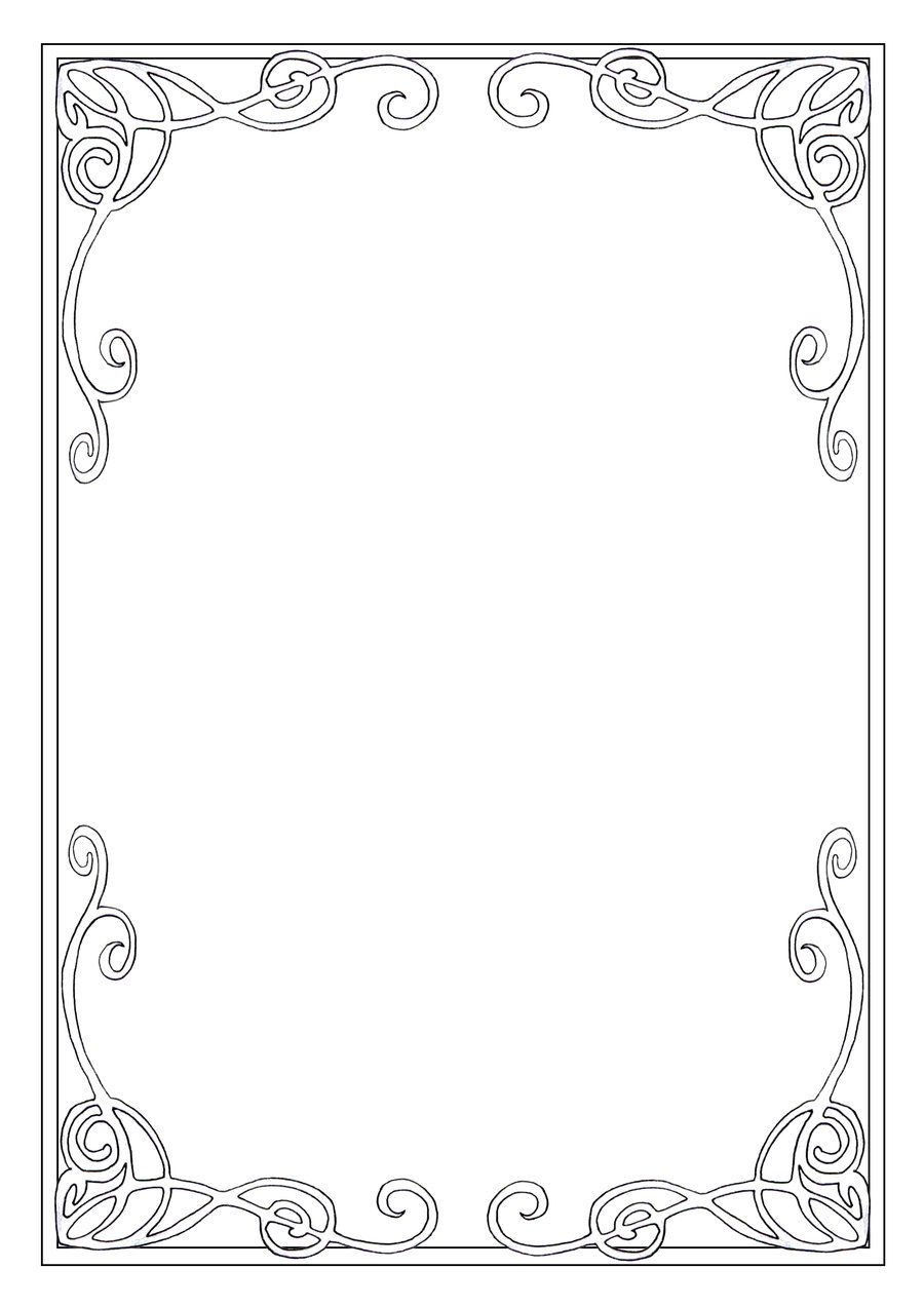 Art nouveau frame | Art Nouveau | Pinterest | Stenciling, Patterns ...