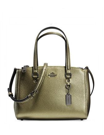 7840f2f0d69f7 Coach Stanton Carryall 26 in Metallic Pebble Leather