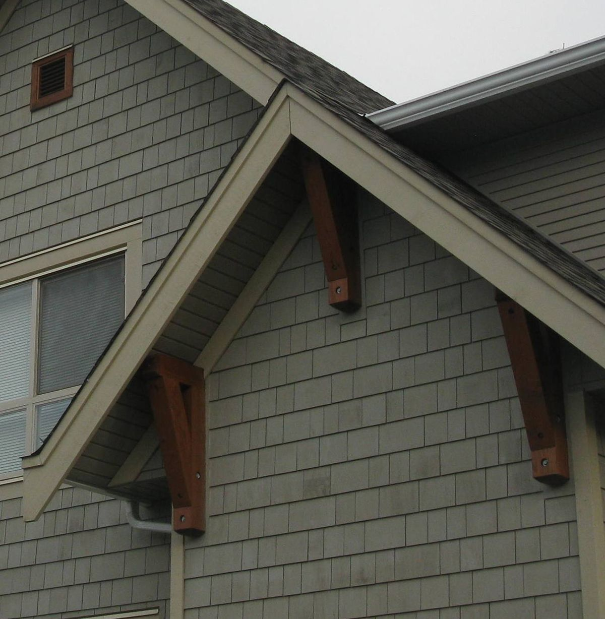 Western Red Cedar Gable Vents And Decorative Shutters Made In Canada Cottage Exterior Home Exterior Makeover House Paint Exterior