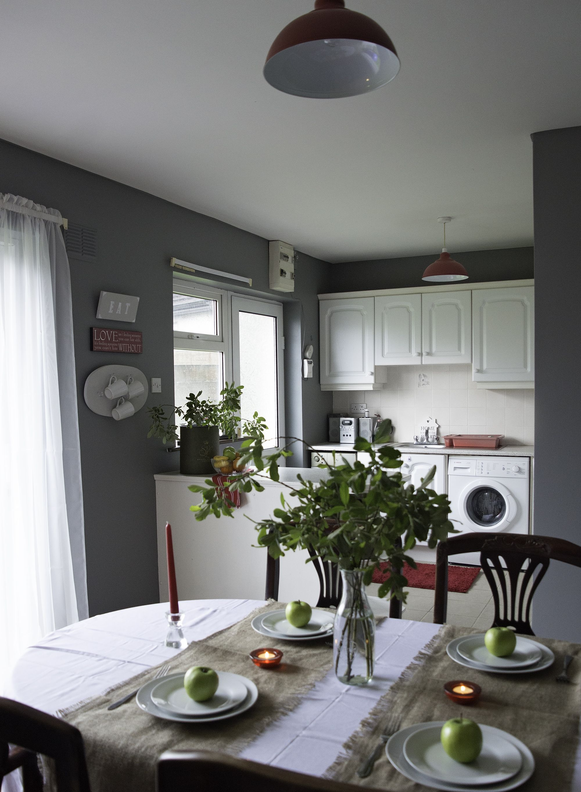 Rental kitchen before and after. It only costed 220 euro