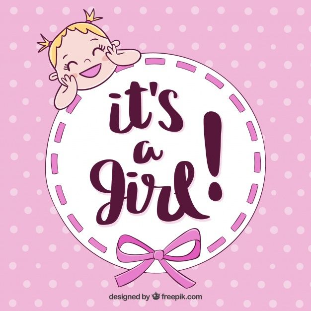 Download Cute Baby Girl Background In Hand Drawn Style For Free Baby Girl Announcement Baby Girl Images Baby Girl Shower Themes