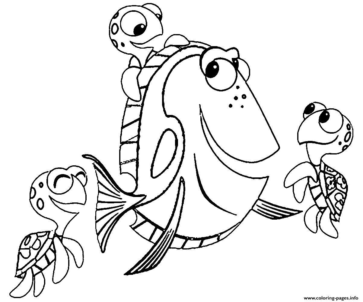 Finding Dory Coloring Pages Awesome Finding Dory Coloring