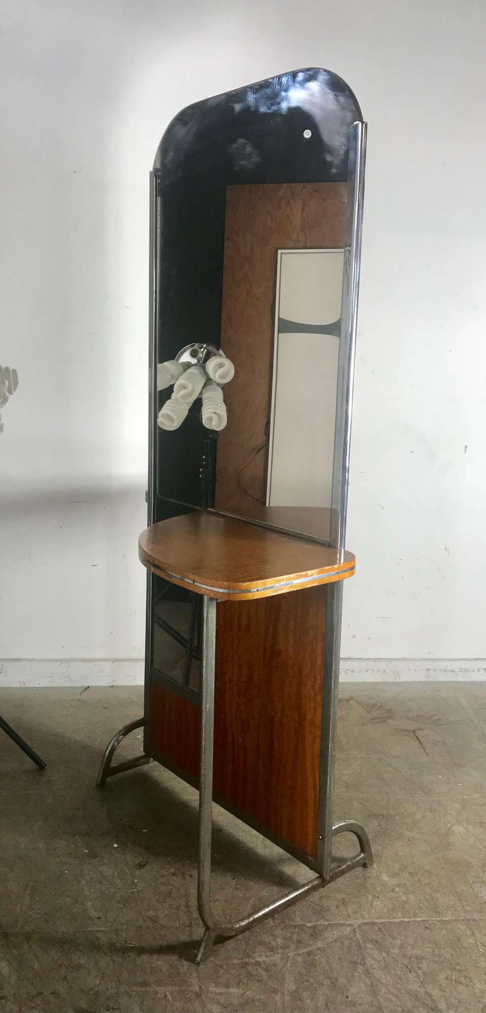 Art deco machine age double sided theater dressing room